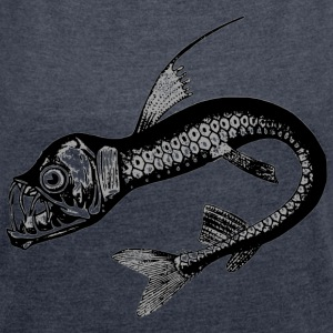 deep-sea fish - Women's T-shirt with rolled up sleeves