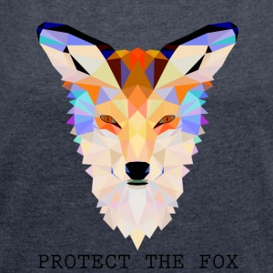 Protect Fox - Women's T-shirt with rolled up sleeves