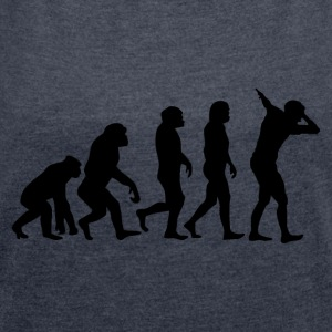 Evolution of dabb - Frauen T-Shirt mit gerollten Ärmeln