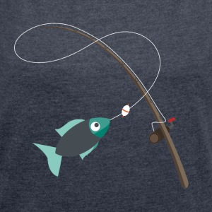fishing - Women's T-shirt with rolled up sleeves
