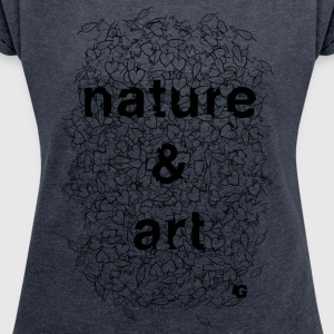 UG Nature and Art B/W - Women's T-shirt with rolled up sleeves