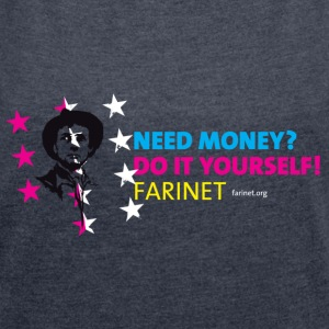 Farinet Do It Yourself Horizontal - T-shirt Femme à manches retroussées