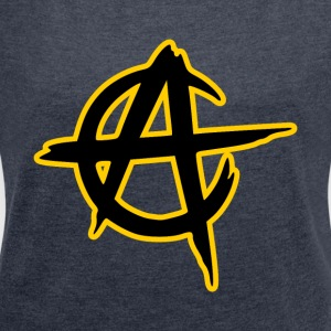 anarcho capitalism - Women's T-shirt with rolled up sleeves