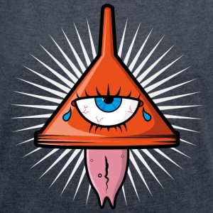 Illuminati Logo - Women's T-shirt with rolled up sleeves