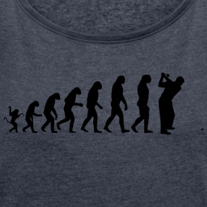 golf evolution - T-shirt med upprullade ärmar dam