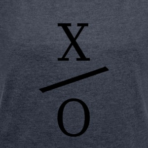X / 0 Logo - Women's T-shirt with rolled up sleeves