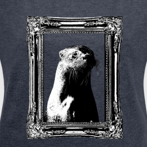 Historic Otter - Women's T-shirt with rolled up sleeves