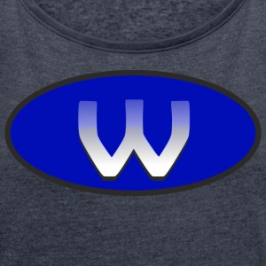 w - Women's T-shirt with rolled up sleeves