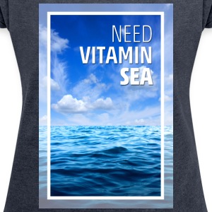 water-vitamin - Women's T-shirt with rolled up sleeves