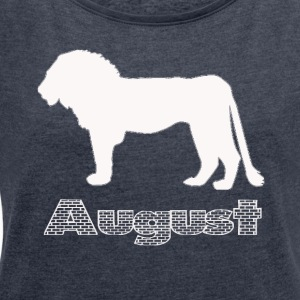 August - Women's T-shirt with rolled up sleeves