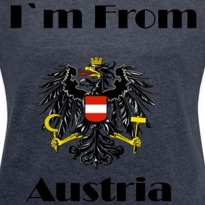 I love Austria - Women's T-shirt with rolled up sleeves
