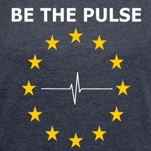 BE THE PULSE - T-skjorte med rulleermer for kvinner