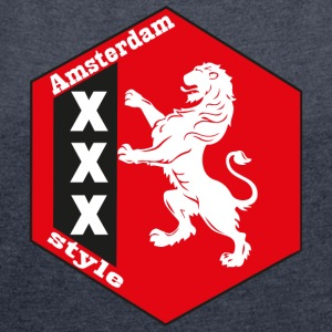 Amsterdam style 1 - Women's T-shirt with rolled up sleeves