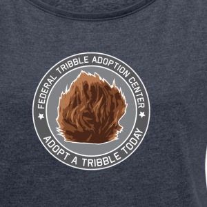 Tribble Adoption Center - Women's T-shirt with rolled up sleeves