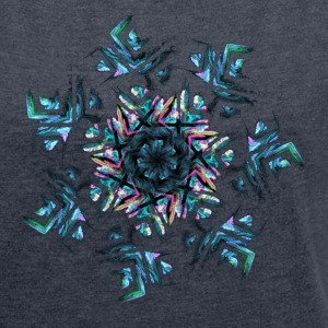 Fractals - Women's T-shirt with rolled up sleeves