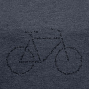 Languages ​​Bike - Women's T-shirt with rolled up sleeves