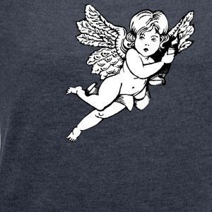 angel 1 - Women's T-shirt with rolled up sleeves