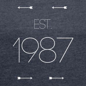 EST 1987 - Women's T-shirt with rolled up sleeves