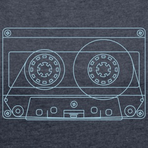 Cassette - Women's T-shirt with rolled up sleeves