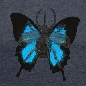 Beetle-Butterfly - Women's T-shirt with rolled up sleeves