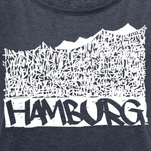 Hamburg Music Hall - White - Women's T-shirt with rolled up sleeves