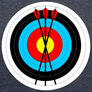 Pad with arrows - Women's T-shirt with rolled up sleeves