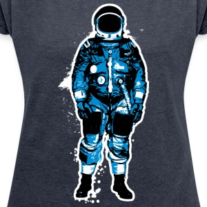 astronaut Grunge - Women's T-shirt with rolled up sleeves