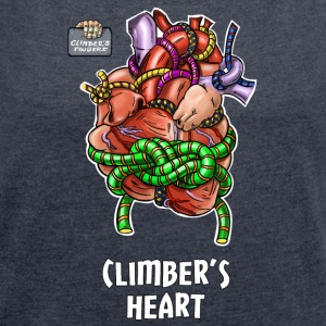 M Climbers heart 00 - Women's T-shirt with rolled up sleeves