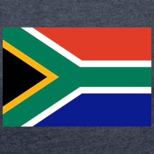 South Africa Flag - Women's T-shirt with rolled up sleeves