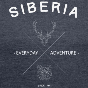 Siberia - Women's T-shirt with rolled up sleeves
