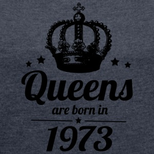 Queen 1973 - Women's T-shirt with rolled up sleeves