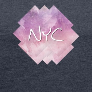 NYC - New York City - Women's T-shirt with rolled up sleeves