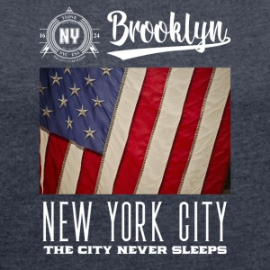 New York City · Brooklyn - T-shirt Femme à manches retroussées