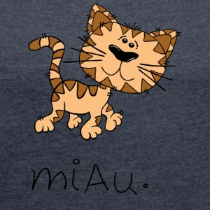 meow - Women's T-shirt with rolled up sleeves