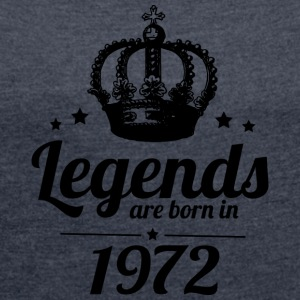 legends 1972 - Women's T-shirt with rolled up sleeves