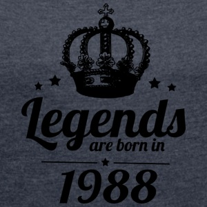 Legends 1988 - Women's T-shirt with rolled up sleeves