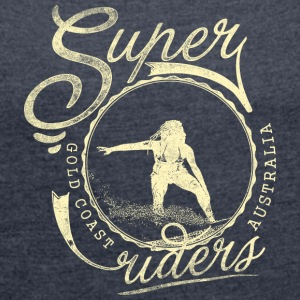 super surfer - Women's T-shirt with rolled up sleeves
