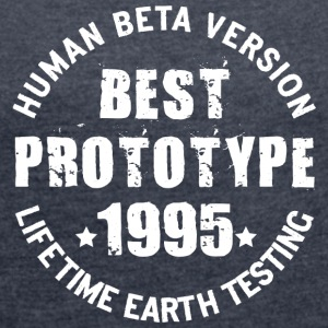 1995 - The birth year of legendary prototypes - Women's T-shirt with rolled up sleeves