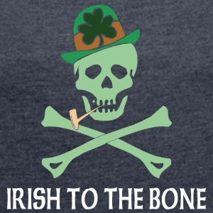 Irish To The Bone - Maglietta da donna con risvolti