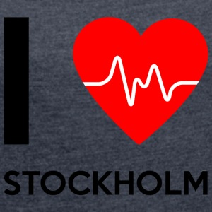 I Love Stockholm - I love Stockholm - Women's T-shirt with rolled up sleeves