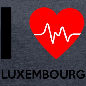 I Love Luxembourg - I Love Luxembourg - Women's T-shirt with rolled up sleeves
