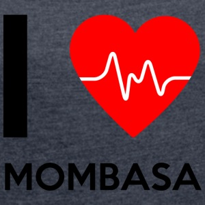 I Love Mombasa - I Love Mombasa - Women's T-shirt with rolled up sleeves