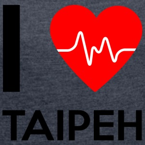 I Love Taipei - I Love Taipei - Women's T-shirt with rolled up sleeves