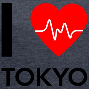 I Love Tokyo - I love Tokyo - Women's T-shirt with rolled up sleeves