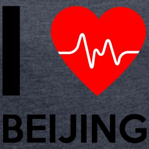 I Love Beijing - I Love Beijing - Women's T-shirt with rolled up sleeves
