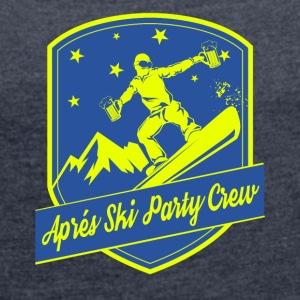 Apps Ski Party Crew - Women's T-shirt with rolled up sleeves