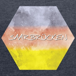 Saarbrucken - Women's T-shirt with rolled up sleeves