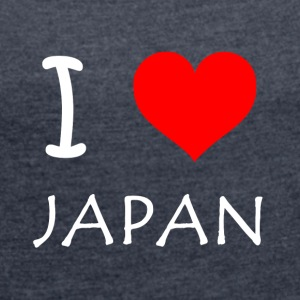 I Love JAPAN - Women's T-shirt with rolled up sleeves