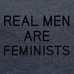 real_men_are_feminists - Maglietta da donna con risvolti