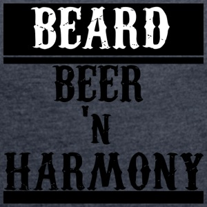 Beard n Beer - Women's T-shirt with rolled up sleeves